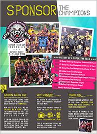Gorden Tallis Cup Sponsors